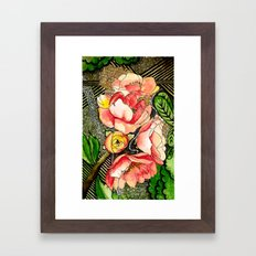 Flower Mixed-Media Framed Art Print