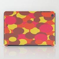Autumn Retro Circles Design iPad Case