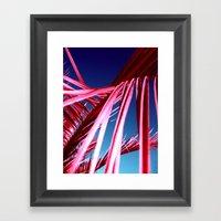 red palm leaf VII Framed Art Print