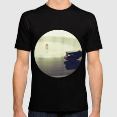 Record player Mens Fitted Tee SMALL Black