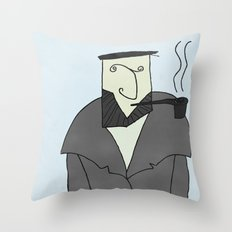 Captain Ahab Throw Pillow