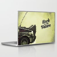 back to the future Laptop & iPad Skins featuring Back to the future by Duke.Doks