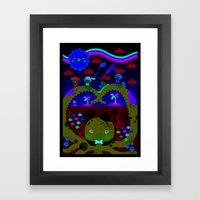 mr. octopus' bridge Framed Art Print