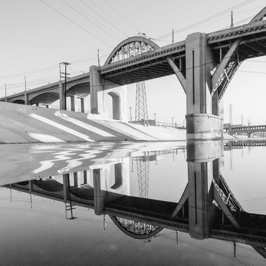 LA Bridge Art Print