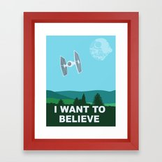 I WANT TO BELIEVE - Star Wars Framed Art Print