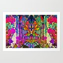 Thru the Kaleidoscope  Art Print