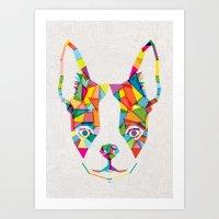 Rainbow Bulldog Art Print