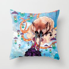 Attack Of The Super Furr… Throw Pillow