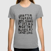 LIVE Womens Fitted Tee Tri-Grey SMALL