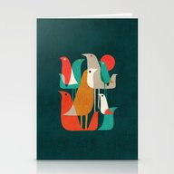 Flock Of Birds Stationery Cards