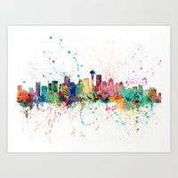 Seattle Washington Skyli… Art Print