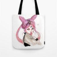 Black Lady Tote Bag