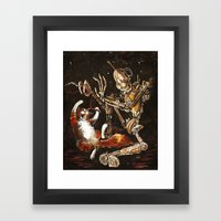 Robot And Cat In The Wil… Framed Art Print