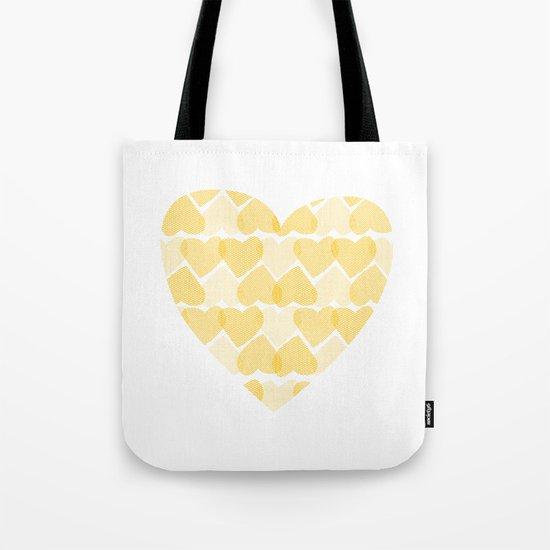 Pretty golden heart Tote Bag