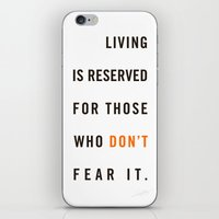 Live Unafraid iPhone & iPod Skin