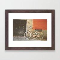Beige Bicycle - Cinque Terre Framed Art Print
