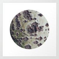 Planetary Bodies - Green… Art Print