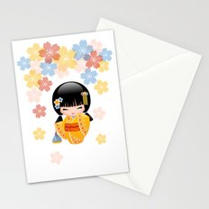 Japanese Summer Kokeshi Doll Stationery Cards