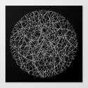 Circle - Lines - Inverted Canvas Print
