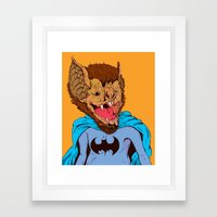 Bat-mania Framed Art Print