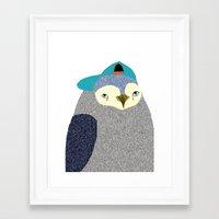 Penguin Dude, penguin art, penguin illustration, penguin, penguin print,  Framed Art Print