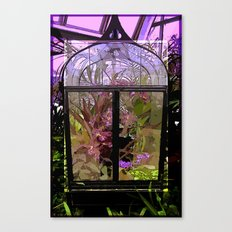 Green House Orchids Canvas Print