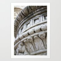 round & round. Art Print