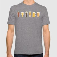 Beer Mens Fitted Tee Tri-Grey SMALL