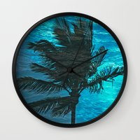 Swimming Palm Wall Clock