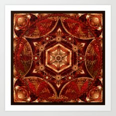 Meditation in Copper Art Print