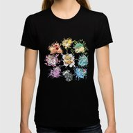 Eeveelutions Womens Fitted Tee Black SMALL