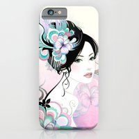 iPhone & iPod Case featuring FLOWER GIRL - for iphone by Simone Morana Cyla