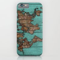 iPhone Cases featuring Wood Map by Diego Tirigall