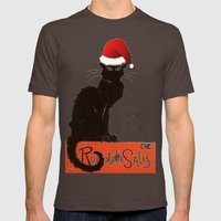 Le Chat Noel Mens Fitted Tee Brown SMALL