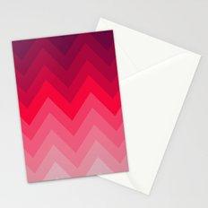 PINK OMBRÉ CHEVRON Stationery Cards