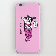 iPhone & iPod Skin featuring Meh-Maid by Gemma Correll