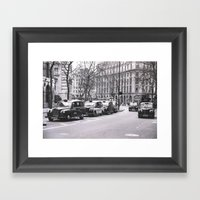 Look Left Framed Art Print