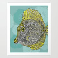 Hello Yellow Art Print