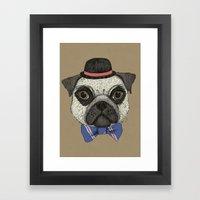 Mr Pug Framed Art Print