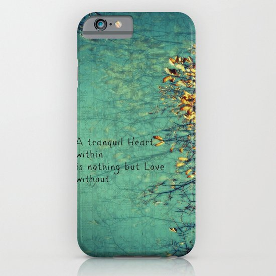 A Tranquil Heart iPhone & iPod Case