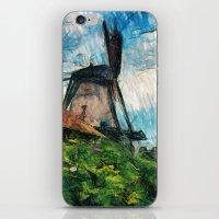 skatching windmill  iPhone & iPod Skin