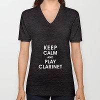 Keep Calm And Play Clari… Unisex V-Neck