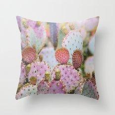 Cotton Candy Cacti Throw Pillow