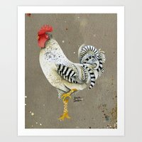 Rooster Wallace Art Print