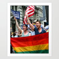 Gay Pride Parade Marchers 2 Art Print