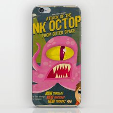 Pink octopus from outer space iPhone & iPod Skin