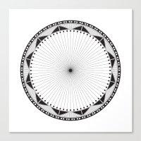 Circle Pattern 228 Canvas Print