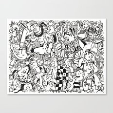 Coloring Page For Literacy Canvas Print