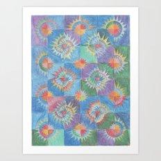 Mosaic Suns Art Print