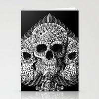Skull Spade Stationery Cards